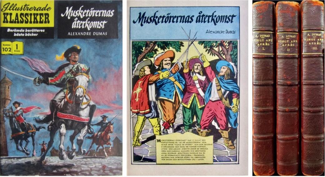Omslag, förstasida ur IK nr 102, och romanen från 1845. ©IK/Gilberton