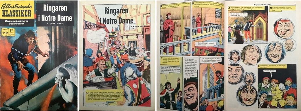 Omslag, förstasida och ett uppslag ur Illustrerade klassiker nr 119. ©IK/Gilberton
