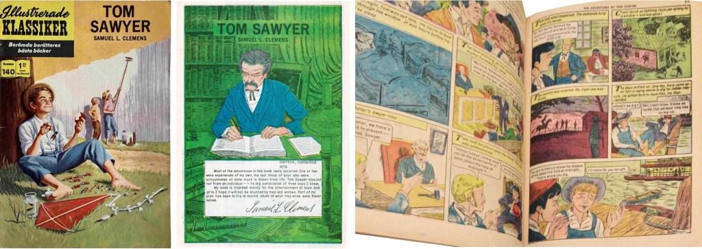 Omslag till Illustrerade klassiker nr 140, förstasida och ett uppslag ur Classics Illustrated #50. ©IK/Gilberton