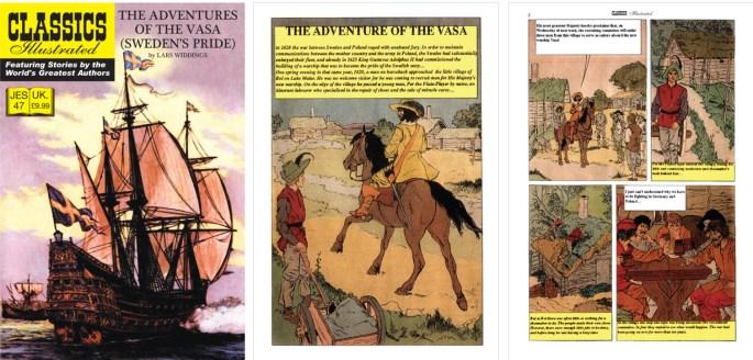 Omslag, förstasida och en sida ur inlagan ur CI (JES) No. 47. ©JES