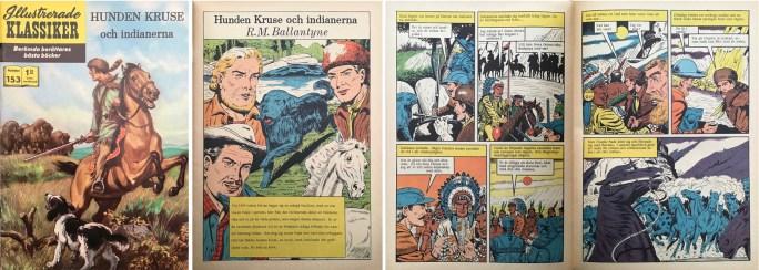 Omslag, förstasida och ett uppslag ur Illustrerade klassiker nr 153. ©IK/T&P