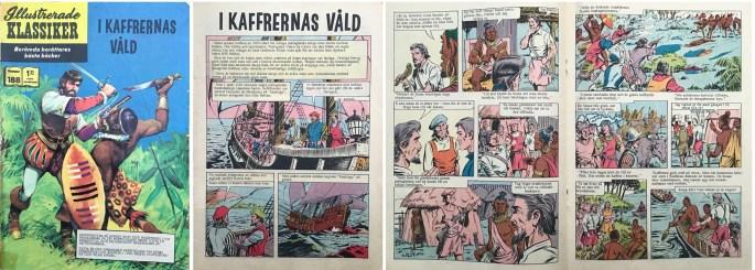 Omslag, förstasida och mittuppslag ur Illustrerade klassiker nr 188. ©Williams