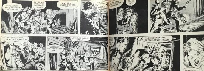 Ett uppslag ur Veckans serier nr 30, 1972 ©Bulls