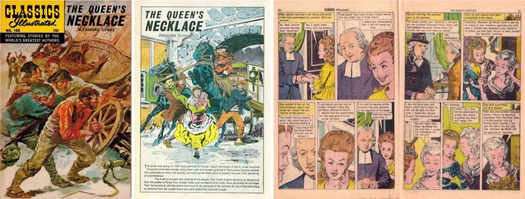 Omslag, förstasida och ett uppslag ur Classics Illustrated #165. ©Gilberton