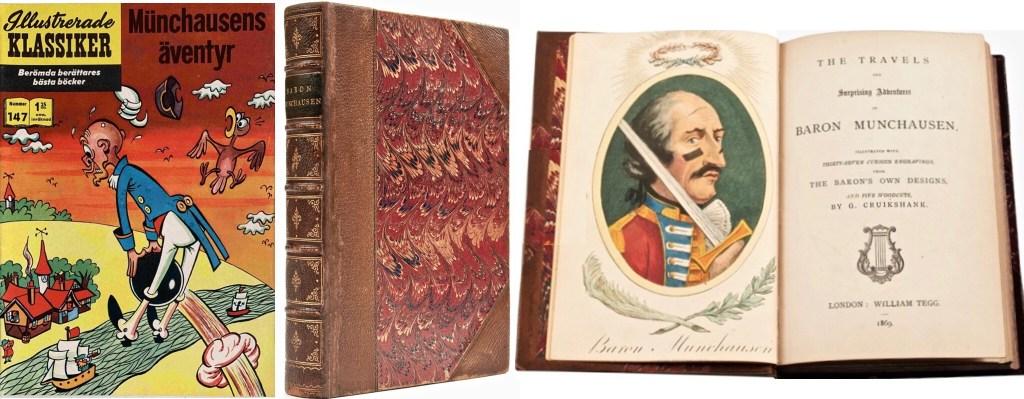 Omslag till Illustrerade klassiker nr 147, och boken av Raspe. ©IK/Gilberton/T&P