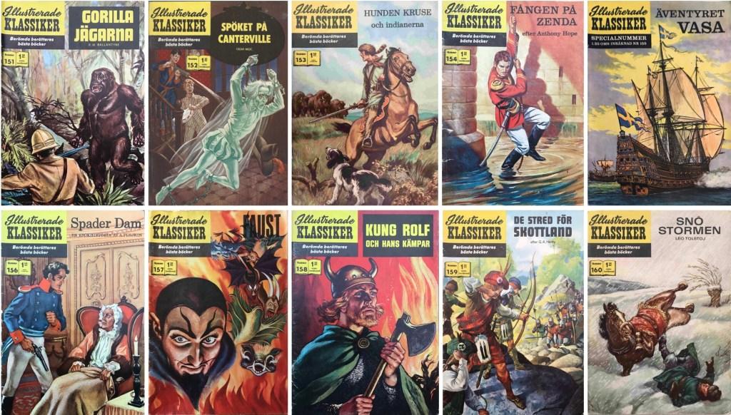 Omslag till Illustrerade klassiker nr 151-160 (1962-63). ©IK/Gilberton