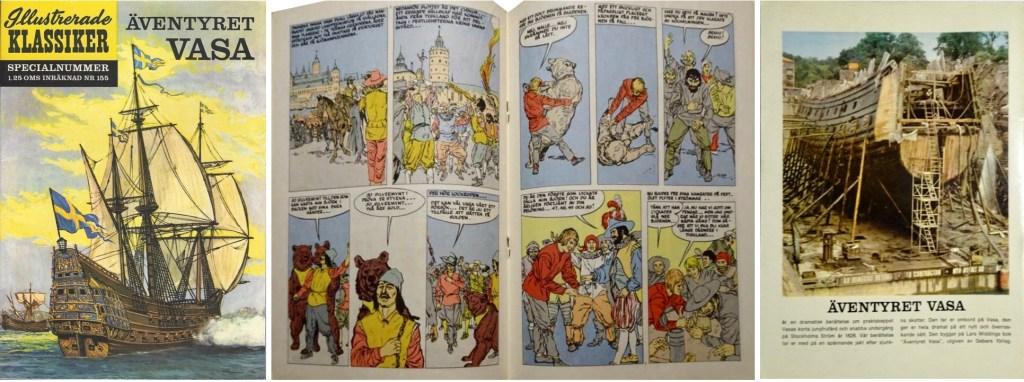 Omslagets fram- och baksida, och mittuppslag ur Illustrerade klassiker nr 155. ©IK