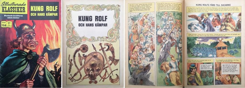 Omslag, förstasida och ett uppslag ur Illustrerade klassiker nr 158. ©IK