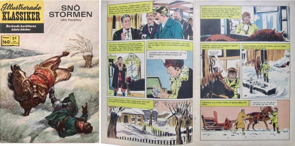 Omslag och inledande uppslag ur Illustrerade klassiker nr 160. ©IK/T&P