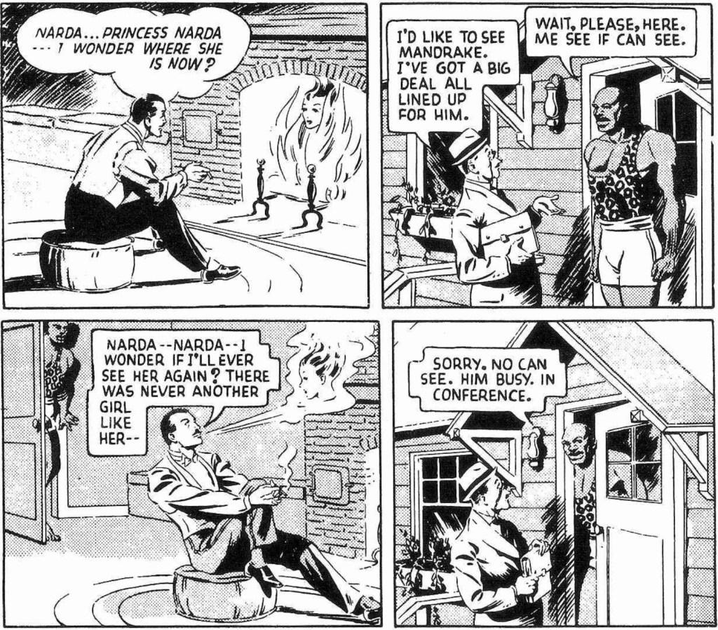 Den inledande strippen från 12 september 1938. ©KFS