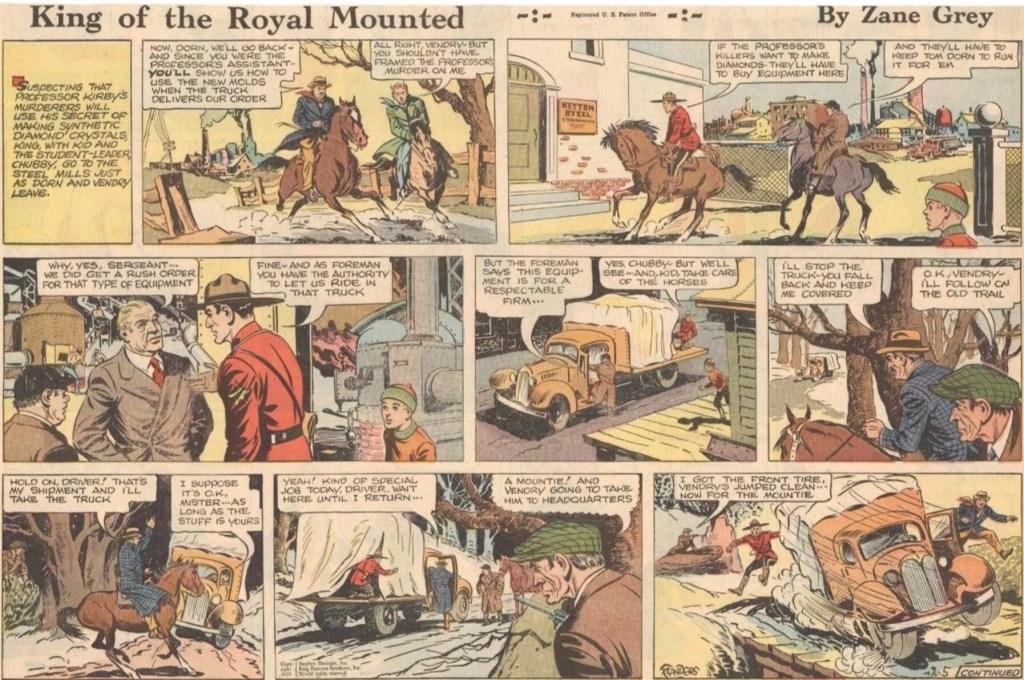 En söndagssida från 5 februari 1939, signerad av Charles Flanders.