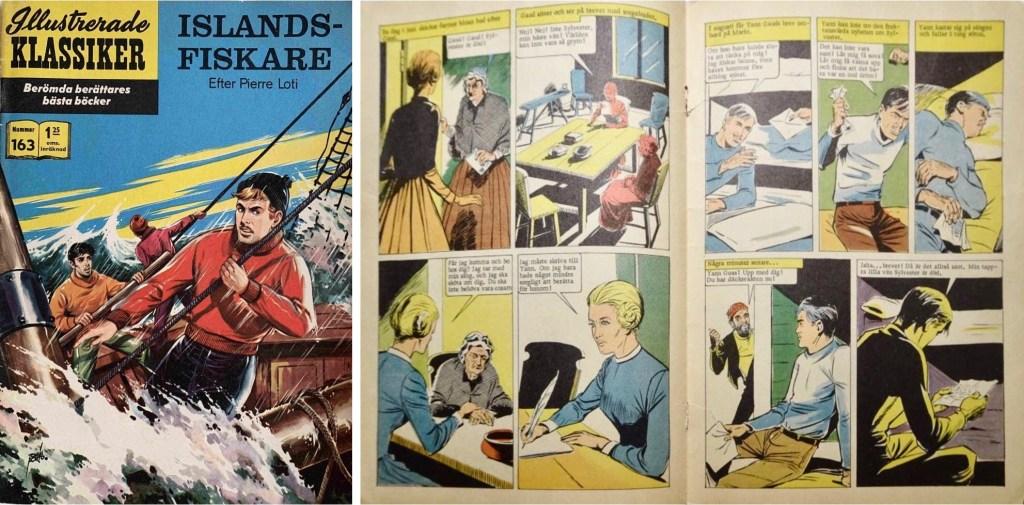 Omslag, förstasida och mittuppslag ur Illustrerade klassiker nr 163. ©IK/T&