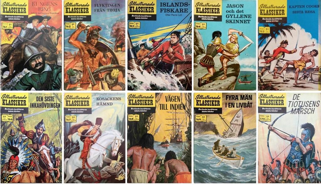 Omslag till Illustrerade klassiker nr 161-170 (1963-64). ©IK/T&P/JES