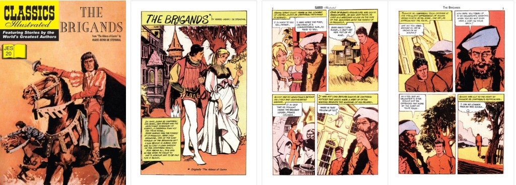 Omslag, förstasida och inledande sidor ur Classics Illustrated (JES) No. 20. ©JES