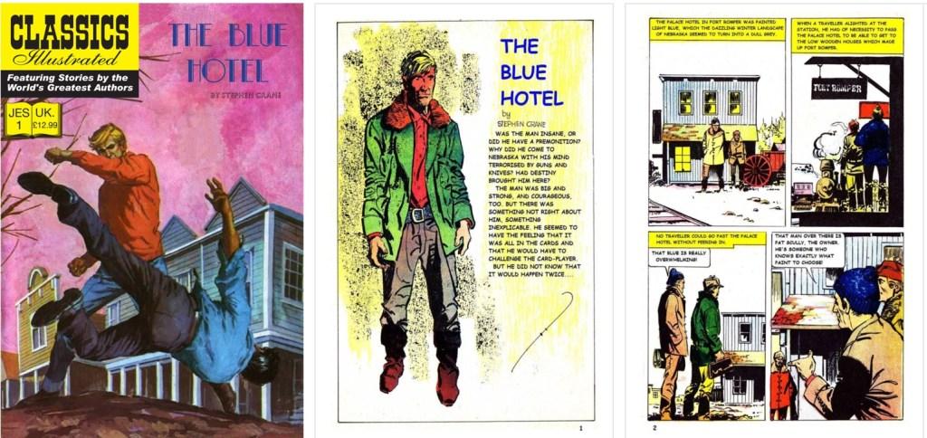 Omslag, förstasida och ett första uppslag ur br. Classics Illustrated #162. ©T&P