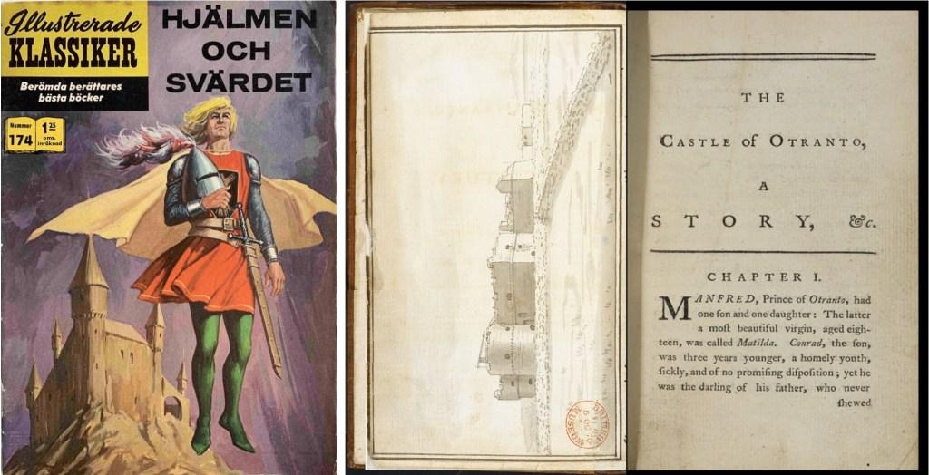 Omslag till Illustrerade klassiker nr 174, och romanen av Walpole (1764). ©IK