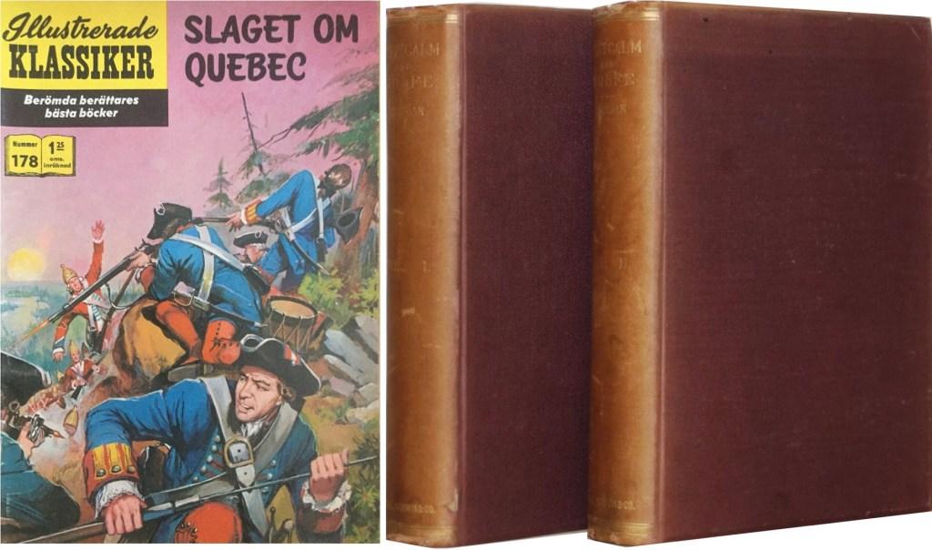 Omslag till Illustrerade klassiker nr 178, och Montcalm and Wolfe i två volymer från omtryckningen 1885. ©Williams