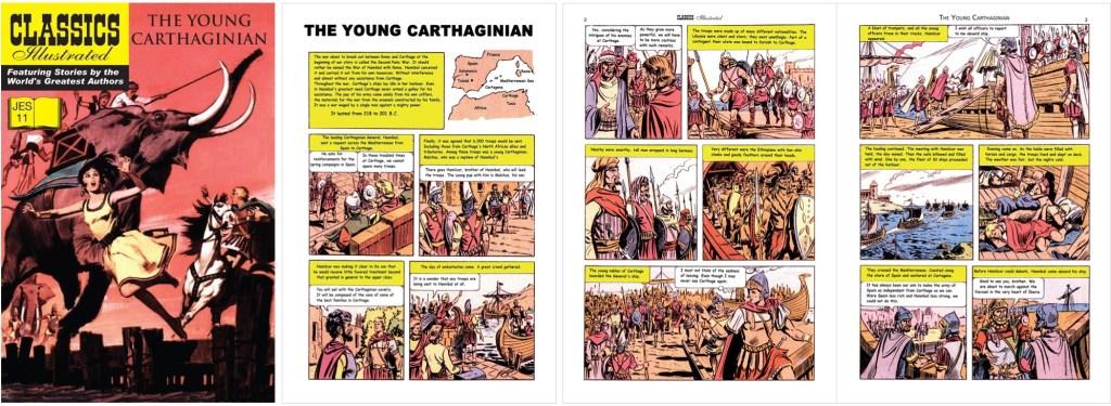 Omslag och inledande sidor ur Classics Illustrated (JES) No. 11. ©JES