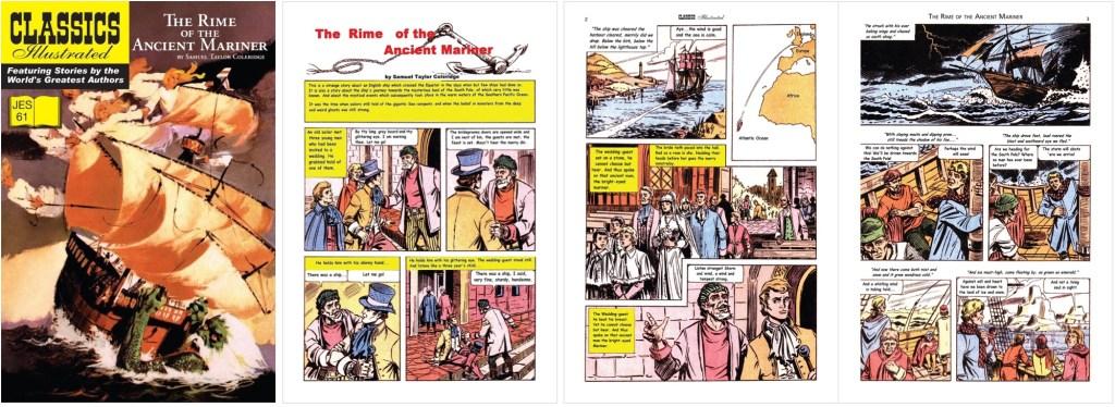 Omslag, förstasida och inledande uppslag ur Classics Illustrated (JES) No. 61. ©JES
