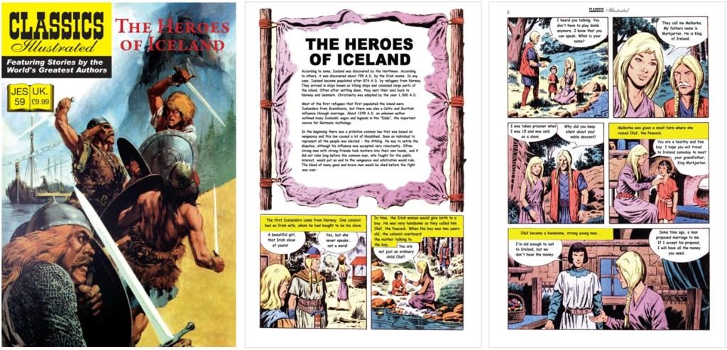 Omslag och inledande sidor ur Classics Illustrated (JES) No. 59. ©JES