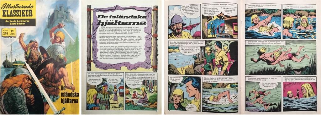 Omslag, förstasida och mittuppslag ur Illustrerade klassiker nr 216. ©Williams