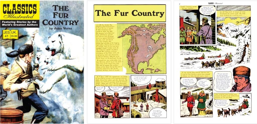Omslag och inledande sidor ur Classics Illustrated (JES) No. 41. ©JES
