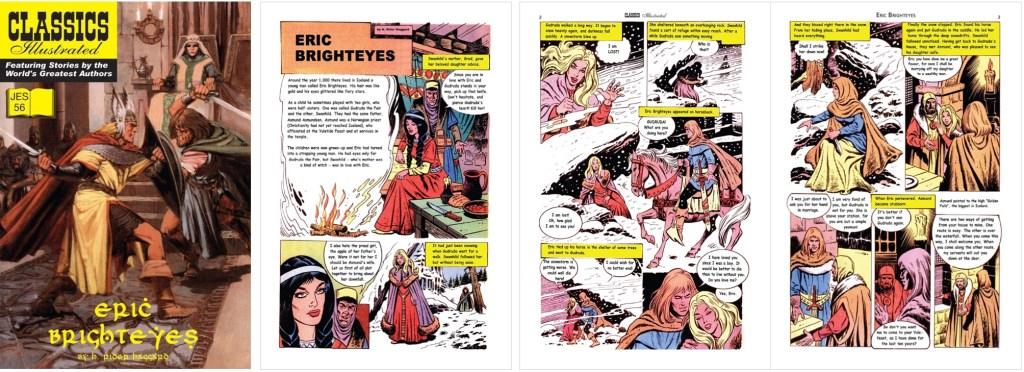 Omslag och inledande sidor ur Classics Illustrated (JES) No. 56. ©JES