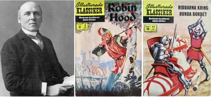 Fotografi av Howard Pyle, och omslag till Illustrerade klassiker 24 och 41. ©IK/Gilberton