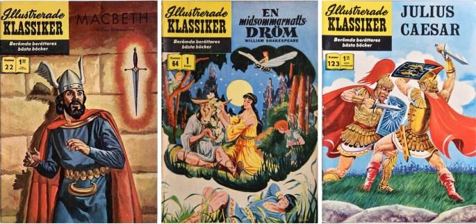 Omslag till Illustrerade klassiker 22, 64 och 123. ©IK/Gilberton