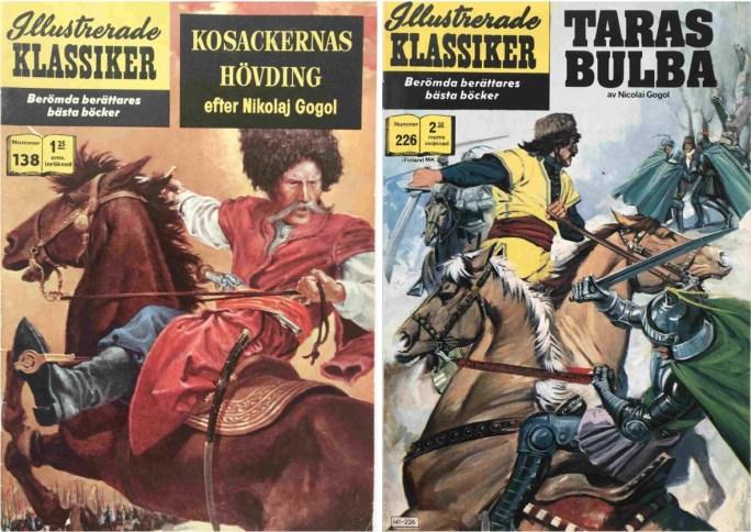 Romanen Taras Bulba ligger som underlag för Illustrerade klassiker 138 och 226. ©IK/Gilberton/Williams