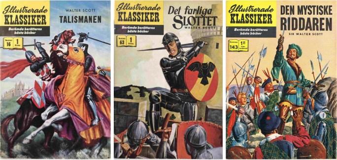 Omslag till Illustrerade klassiker 16, 63 och 143. ©IK/Gilberton