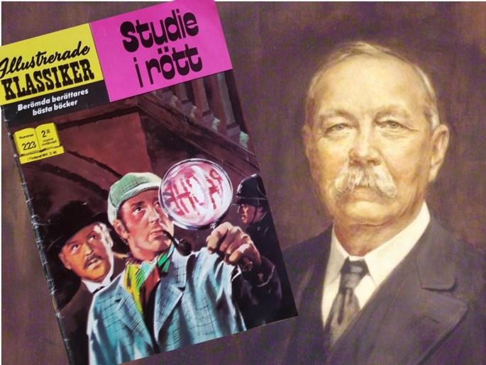 Omslag till Illustrerade klassiker 223, och porträtt av Sir Arthur Conan Doyle. ©Williams