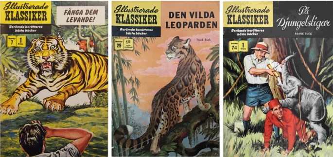 Omslag till Illustrerade klassiker med underlag av Frank Buck