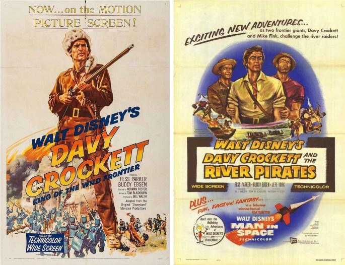 Davy Crockett gick på tv som miniserie som en del av Disneyland-programmet, och redigerades sedan om till biofilmer. ©Disney