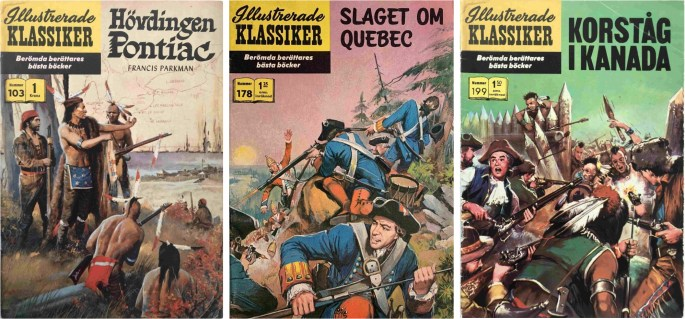 Omslag till Illustrerade klassiker 103, 178 och 199. ©IK/Gilberton/Williams