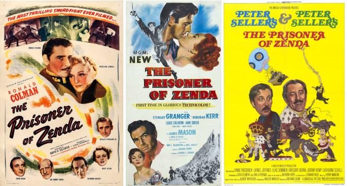 Filmaffischer från 1937, 1952 och 1979.