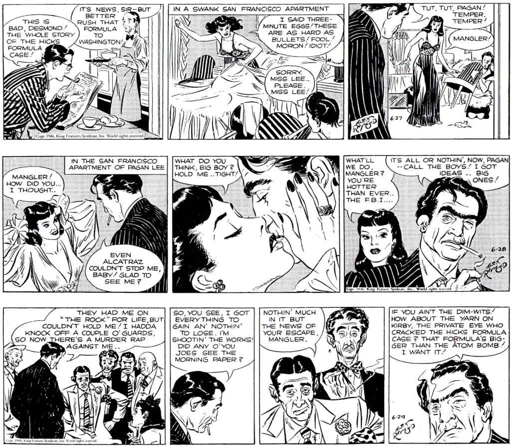 Början på episoden Liquid Murder i original från 27-29 juni 1946. ©KFS