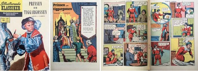 Omslag, förstasida och mittuppslag till Illustrerade klassiker nr 18. ©IK/Gilberton