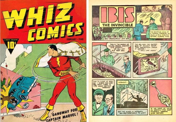 Ibis the Invincible ur Whiz Comics #2 (1940). ©Fawcett