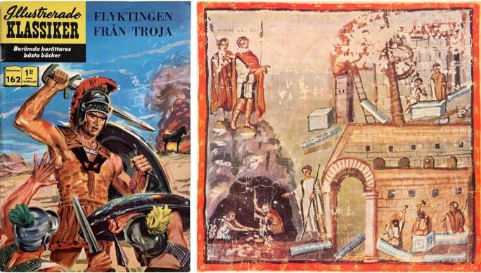 Omslag till Illustrerade klassiker 162. Bilden ur Aeneiden av Vergilius visar Aeneas överse byggandet av Kartago. ©IK/T&P