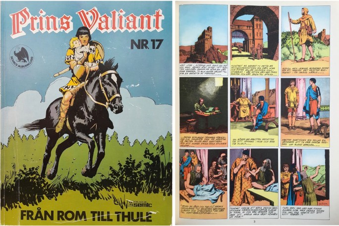 Motsvarande sida i seriealbumet Prins Valiant nr 17 från Semic. ©Bulls