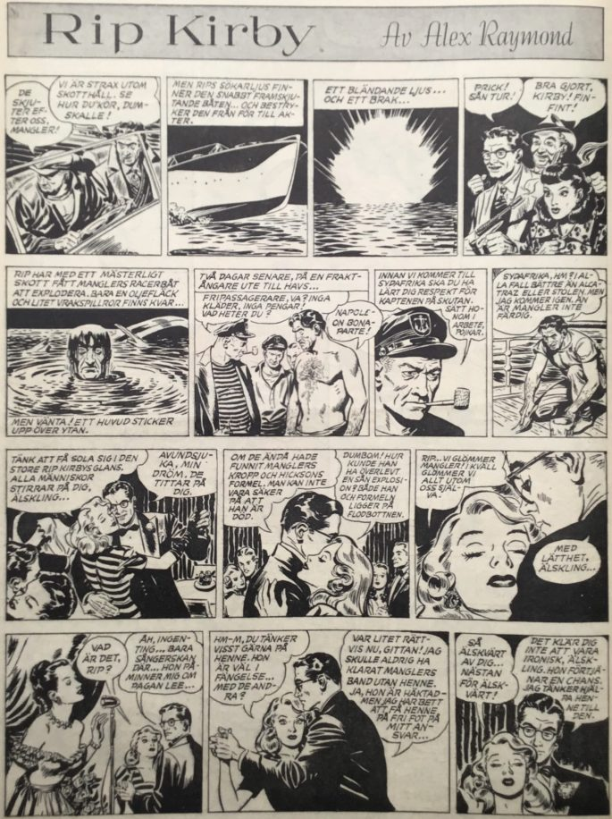 Sidan med Rip Kirby i Karl-Alfred nr 37, 1947. ©Bulls