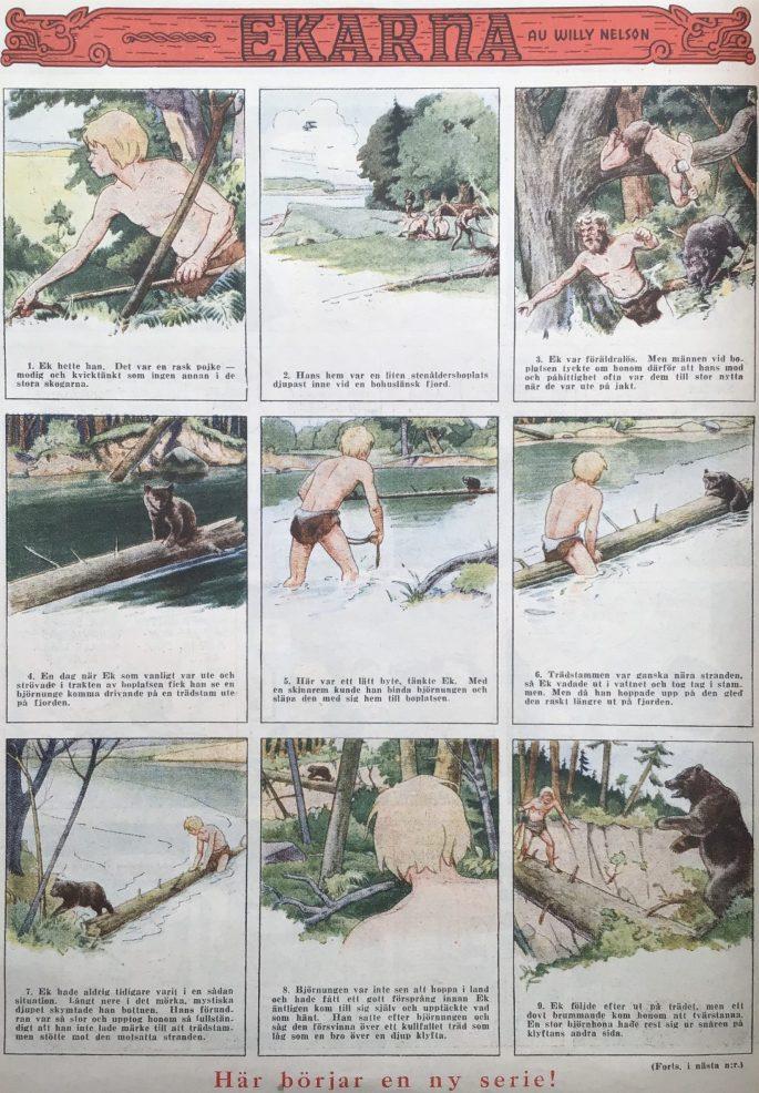 Den första sidan med Ekarna från Karl-Alfred  nr 17, 1948. ©Nielsen