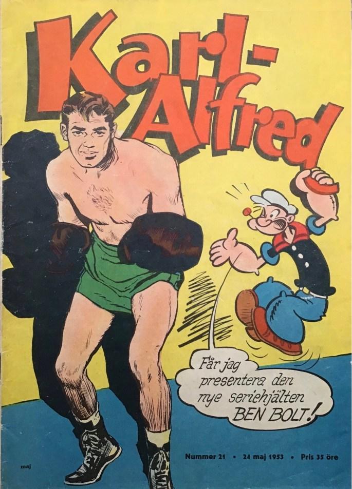 Omslaget till Karl-Alfred nr 21, 1953. ©Aller