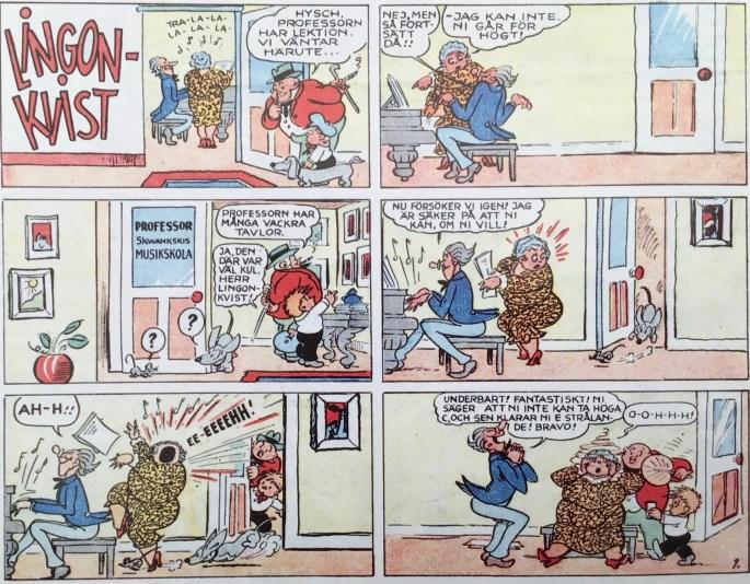 Lingonkvist (Dinglehoofer und His Dog) var en av serierna i Karl-Alfred nr 1, 1946. ©Bulls