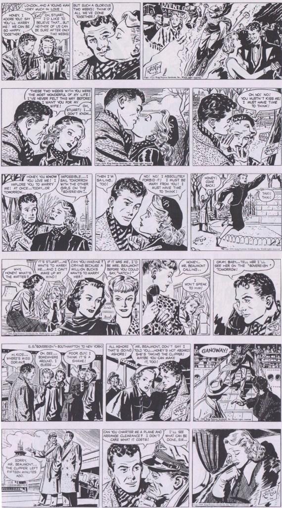 Dagsstrippar i original från 24-29 januari 1949. ©KFS