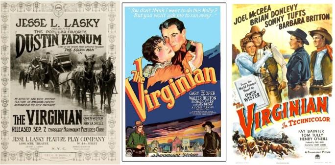 Filmaffischer från filmatiseringen 1914, 1929 och 1946. ©Paramount