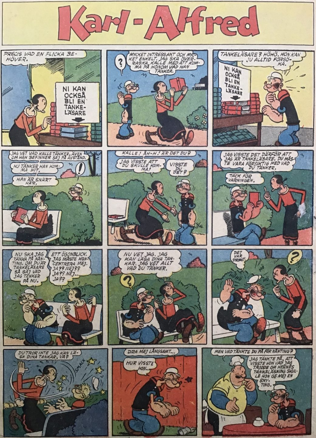 Serien Karl-Alfred iserietidningen Karl-Alfred nr 1, 1953. ©Bulls