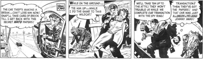 Dagsstripp i original från 28 november 1955. ©KFS