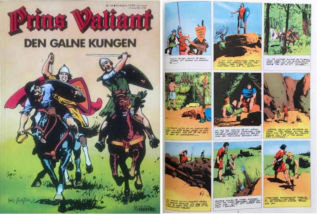 Motsvarande sida i seriealbumet Prins Valiant nr 14 från Semic. ©Bulls